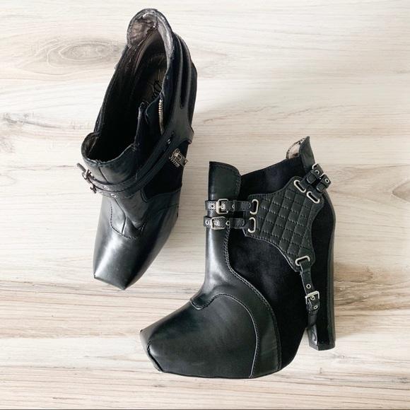 Sam Edelman Shoes - Sam Edelman Zoe Harness Black Leather Booties